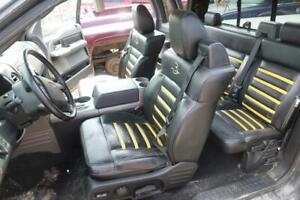 2004 2008 Ford F150 Roush Oem Black Yellow Leather Seats Front Rear Super Cab