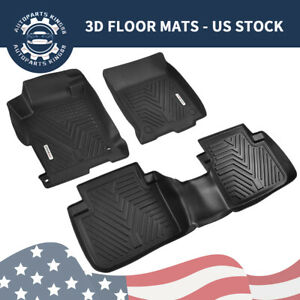 All Weather Floor Mats Floor Liners For 2013 2017 Honda Accord Sedan 1st 2nd Row