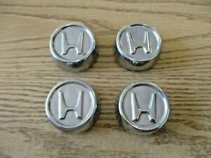 Genuine Honda Civic Metal Center Caps For 13 Inch And 14 Inch Steel Wheels