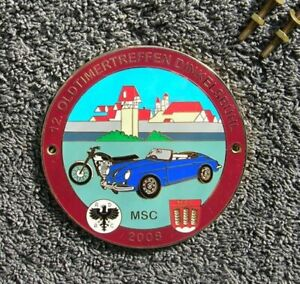 Porsche 356 German Car Badge Rally Car Grill Accessory Original Adac