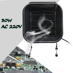 220v 30w Soldering Iron Smoke Fan Remover Fume Electrostatic Absorber Us