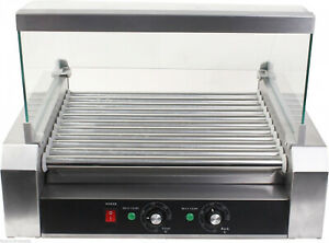 Stainless Steel Commercial 30 Hot Dog Sausage 11 Roller Grill Cooker Machine