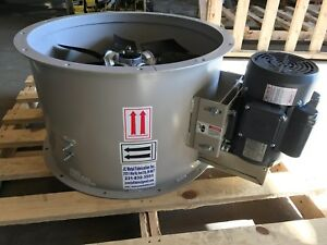 24 Dia Tubeaxial Exhaust Fan For Paint Spray Booth single Phase 8 900 Cfm