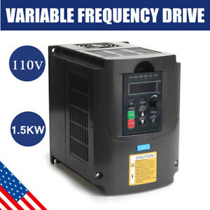 Us 1 5kw 2hp Cnc 110v Variable Frequency Drive Speed Control Inverter Vfd