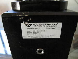 Wc Branham 2sb4 125 1 1bm1 00 Right Angle Gear Drive 4303 0040 Spiral Bevel