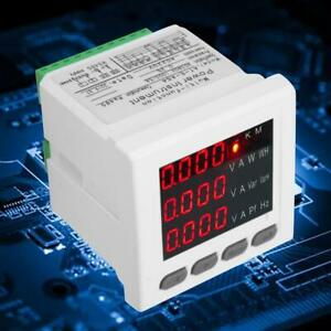 3 phase Multi function Digital Lcd Display Energy Voltage Current Power Meter Hq