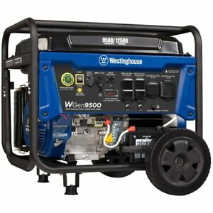 Westinghouse Wgen9500 9500 Watt Electric Start Portable Generator W Gfci P