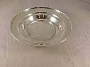 Vintage Whiting Manufacturing Co Sterling Silver Bowl 2982a 9 1 2 Diameter