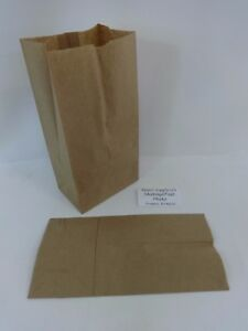 4 Paper Brown Kraft Natural Sack Lunch Merchandise Grocery Retail Bags