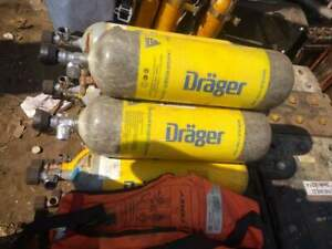 Drager Breathing Air Scuba Compressor Tanks cylinders