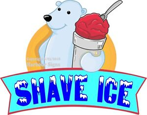 Shave Ice Decal choose Your Size Food Truck Concession Vinyl Sticker