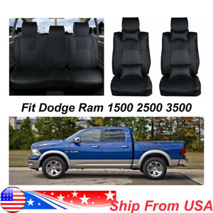 Pu Leather Car Seat Cover For Dodge Ram 1500 2500 2013 2017 Front Rear Cushion