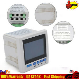 Multi function Power Meter 3 phase 4 digit Measuring Current Voltage Power White