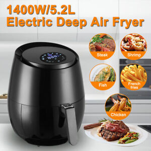 5 Qt 5 2 L Digital Air Fryer Touch Lcd Display 360 Heat Oil Free