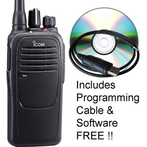 Icom F1000 Waterproof Vhf 16 Ch 136 174mhz Two Way Radio W Software Cable