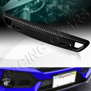 Universal Carbon Style Black Front Bumper License Plate Mount Bracket Relocator