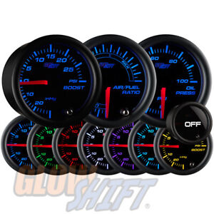 Glowshift 52mm Tinted 7 Color Boost vac Oil Pressure Air fuel Ratio Gauge Set