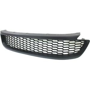 Bumper Grille For 2013 2015 Honda Accord Coupe Center Textured Black Pla