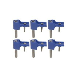 Taylor Brackets For Spark Plug Wire Separators 6 Piece Blue