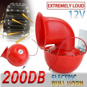 12v Super Loud Sound 200db Electric Bull Air Horn For Motorcycle Car Truck Taxi