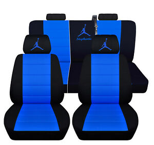 Seat Covers For A 2002 Gmc Envoy 60 40 Rear Black And Medium Blue Personal Desig