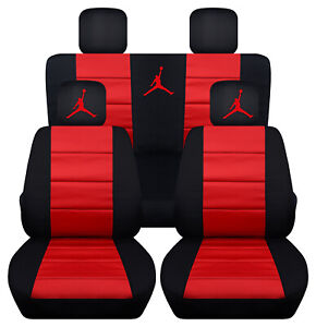 2005 2010 Chrysler 300 Front And Rear Black And Red Jumpman Seat Covers Abf