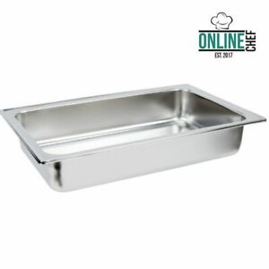 4 Deep Full Size Stainless Steel Chafing Dish Chafer Dripless Water Pan Insert