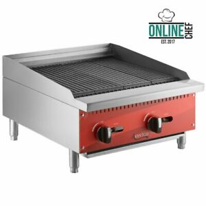 24 Natural Gas Radiant Commercial Restaurant Kitchen Countertop Charbroiler