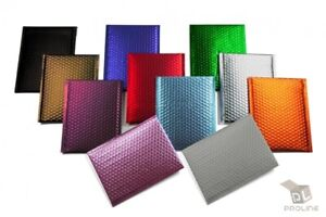 Any Size Color MATTE METALLIC Poly Bubble Mailers Mailing Padded Envelopes $65.50