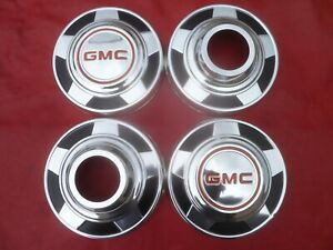 Vintage 1973 77 Nos Gmc Truck Dog Dish Poverty Hubcaps Wheel Covers