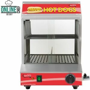 New Avantco 175 Hot Dog Steamer 40 Bun 120v Commercial Concession Warmer Stand