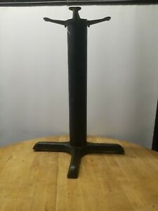 Vintage Industrial Cast Iron Galvanized Table Base Pedestal Leg Steampunk