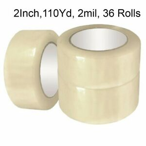 36 Roll Clear Carton Sealing Packing Shipping Tape 2 2 0 Mils 110 Yard 330