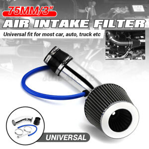 3 Universal Car Cold Air Intake Filter Induction Kit Pipe Hose Aluminum