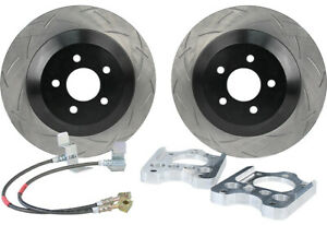 Steeda 13 Slotted Rear Brake Upgrade Kit For 2005 12 Ford Mustang