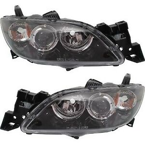 Halogen Headlight Set For 2004 2009 Mazda 3 Left Right Pair Capa