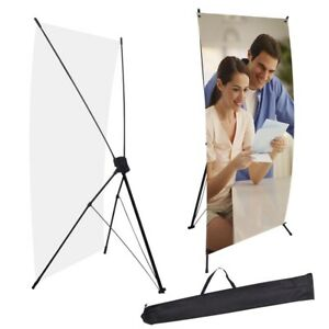 Commercial X Banner Display Stand 24 Wide 63 Tall Travel Bag Trade Show