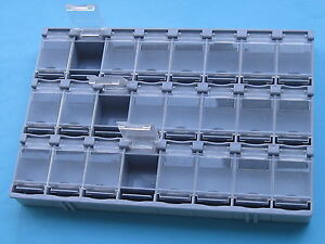 10 Pcs Smt Electronic Component Mini Storage Box 24 Lattice T 156 New