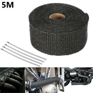 5m Exhaust Tape Heat Wrap Manifold Down Pipe Insulation Bandage Roll Titanium