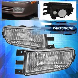 glass Lens For 98 05 Gs300 Gs400 Gs430 Replacement Fog Lights Lamps Clear