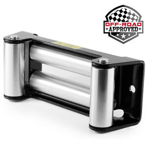 Heavy Duty Winch Roller Fairlead 10 Universal 4 Way Roller Cable Guide