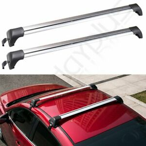 Fit For 47 Roof Rack With Lock Bike Kayak Ski Snowboard Luggage Cross Bar