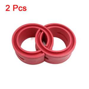 Type a Red Car Rubber Shock Absorber Spring Bumper Buffer Power Cushion 2pcs