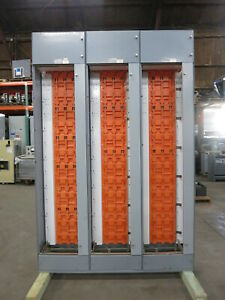 Furnas System 89 3x Motor Control Center Sections 300a Vertical Bus 600v Mcc