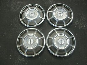 Factory 1966 To 1969 Chevy Corvair Monza 13 Inch Hubcaps Wheel Covers