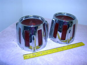 1958 Oldsmobile Tail Lights 58 Olds Taillights Pair D 8 19