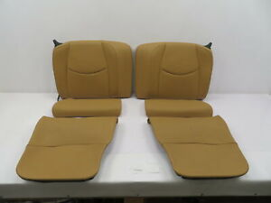 07 09 Porsche 911 Turbo 997 1086 Convertible Rear Leather Sand Beige Seats
