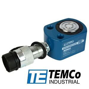 Temco Hc0031 Low Profile Height Hydraulic Cylinder Puck 10 Ton 0 39 Stroke