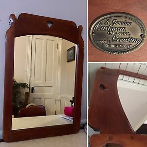 Cushman Colonial Creations Solid Wood Wall Mirror Vintage Home Decor Made In Usa