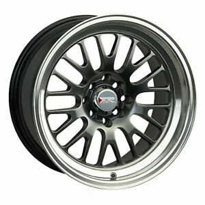 Xxr 531 15x8 4 100 4 4 5 0 Offset 73 1mm Bore Chromium Black Ml Wheel Rim